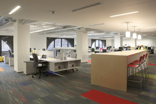 Teach for america uses open plan design for newark offices for Office design events